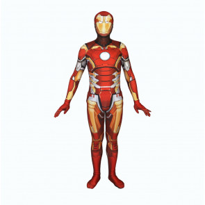 Complete Iron Man Lycra Cosplay Costume
