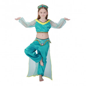 Girls Jasmine Cosplay Costume Dress