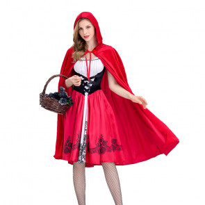 Womens Little Red Riding Hood Cosplay Costume