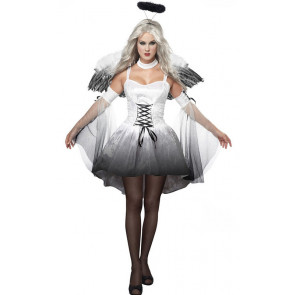 Womens Angel Complete Cosplay Costume White