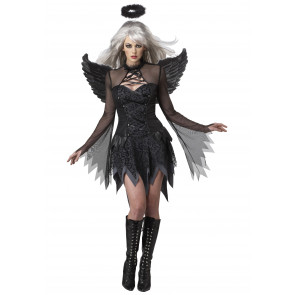Womens Angel Complete Cosplay Costume Black