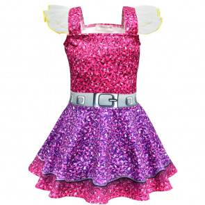 Purple Queen Girls Costume Dress