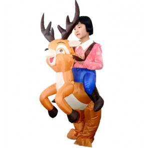 Kids Inflatable Reindeer Riding Costume