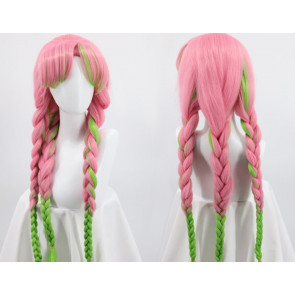 Demon Slayer Kanroji Mitsuri Pink Green Wig