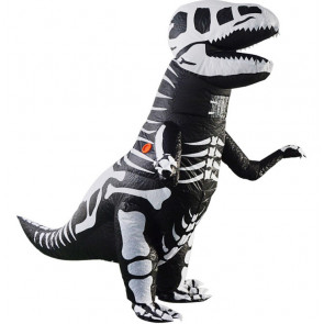 Giant Fossil Skeleton T-Rex Dinosaur Inflatable Costume