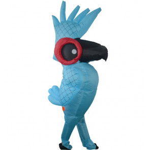 Giant Parrot Bird Blue Macaw Inflatable Costume