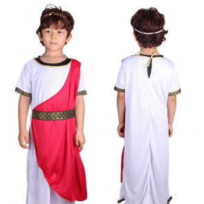 Boys Roman Emperor Julius Caesar Greek Toga King Kids Costume