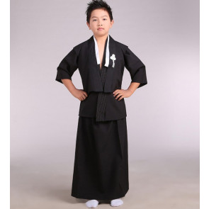 Boys Japanese Traditional Samurai Kimono Warrior Robe