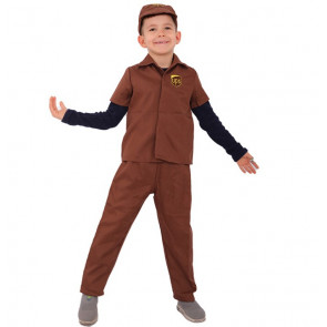 UPS Delivery Guy Boys Costume