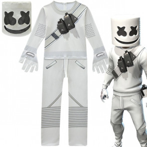 Complete Marshmello Suit With Mask Costume