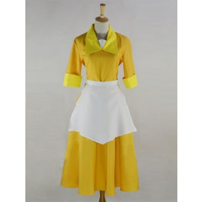 The Princess and the Frog Tiana Yellow Waitress Cosplay Costume