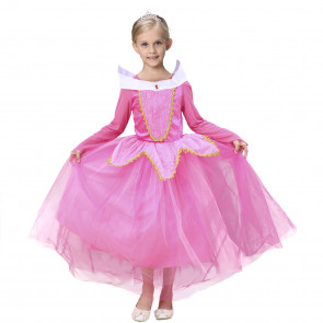 Disney Aurora Sleeping Beauty Princess Cosplay Costume Dress For Girls Halloween Costume