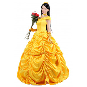 Disney Belle Princess Cosplay Outfit For Children and Adults Halloween Costume