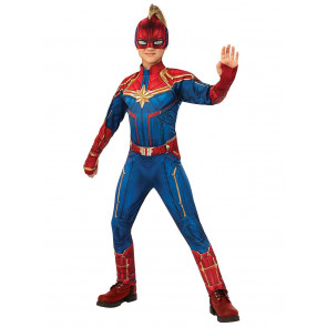 Captain Marvel Children's Deluxe Hero Suit Blue/Red