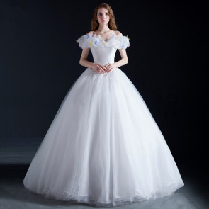 Cinderella White Dress Cosplay Costume
