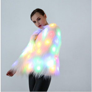 LED Fur Scarf
