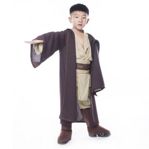 Boys Obi Wan Kenobi Anakin Jedi Robe Brown