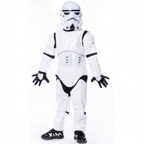 Boys Deluxe Stormtrooper Costume With Mask