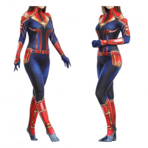 Deluxe Captain Marvel Women's Costume
