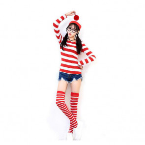 Where's Wally Cosplay Costume