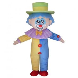 Giant Blue Clown Mascot Costume