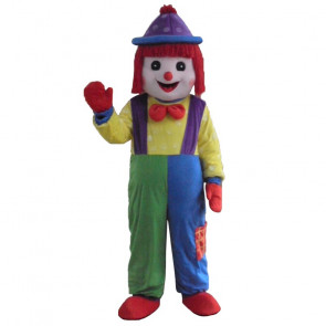 Giant Red Clown Mascot Costume