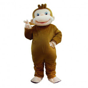 Giant Curious George Monkey Mascot Costume