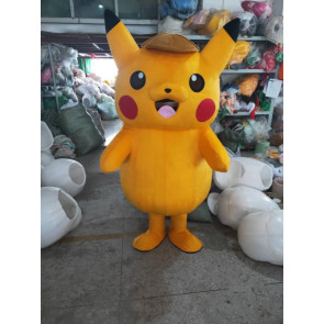 Giant Detective Pikachu Mascot Costume