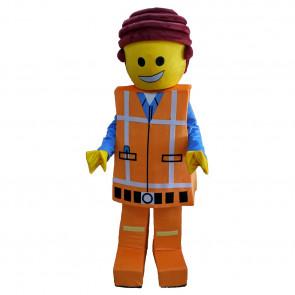 Giant Emmet Brickowski Lego Mascot Costume