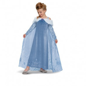 Girls Elsa Deluxe Costume Dress From Olaf's Frozen Adventure
