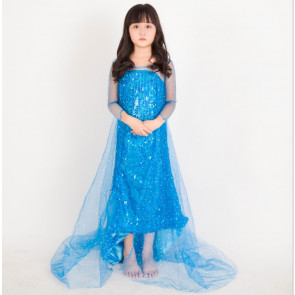 Girls Elsa Classic Blue Dress