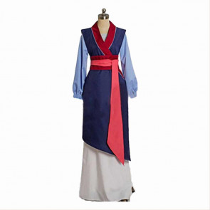 Girls Blue Mulan Cosplay Costume Dress