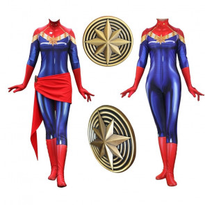 Captain Marvel Lycra Complete Cosplay Costume