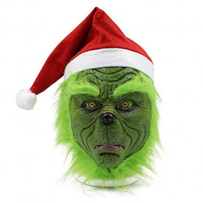 Grinch Santa Mask Cosplay