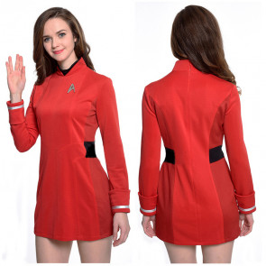 Star Trek Red Starfleet Uniform Cosplay Costume For Women