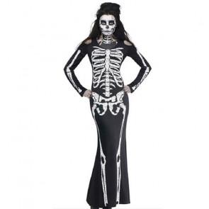 Skeleton Woman Costume Dress