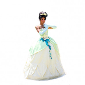 Disney Tiana Beauty Princess Cosplay Costume Dress For Adults Halloween Costume