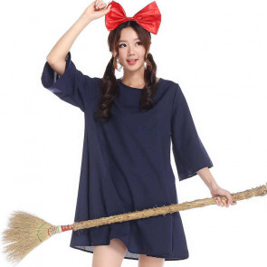 Kiki's Delivery Service Dress and Head Wear Set Cosplay Costume