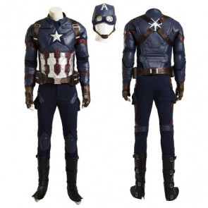 Complete Captain American Cosplay Costume With Shield