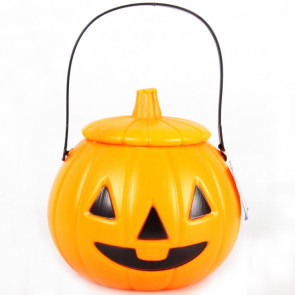 Halloween Plastic Pumpkin Lantern Light Candy Bag