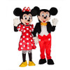 Giant Mickey and Minnie Mouse Mascot Costume Set Of 2 Mascots