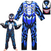 Boys Venom Lycra Halloween Cosplay Costume with Masks