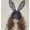 Halloween Gothic Lace Extra Long Bunny Ears Headband Costume