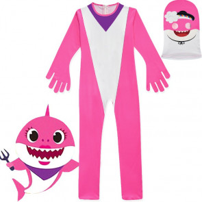 Kids Mommy Pink Shark Costume