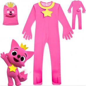 Kids Pink Fong Fox Costume