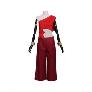 Avatar The Last Airbender Katara Red Costume Women Cosplay Costume