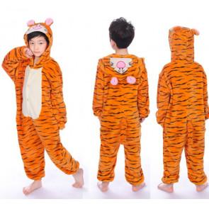 Kids Tiger Onesie Jumpsuit Costume