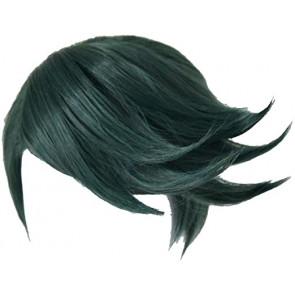Jojo's Bizarre Adventure Rohan Kishibe Green Short Wig