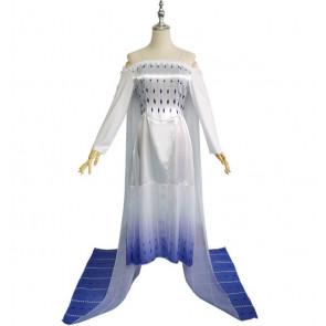Elsa White Dress Frozen 2 Costume For Women