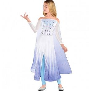 White Elsa Dress From Frozen 2 Girls Costume